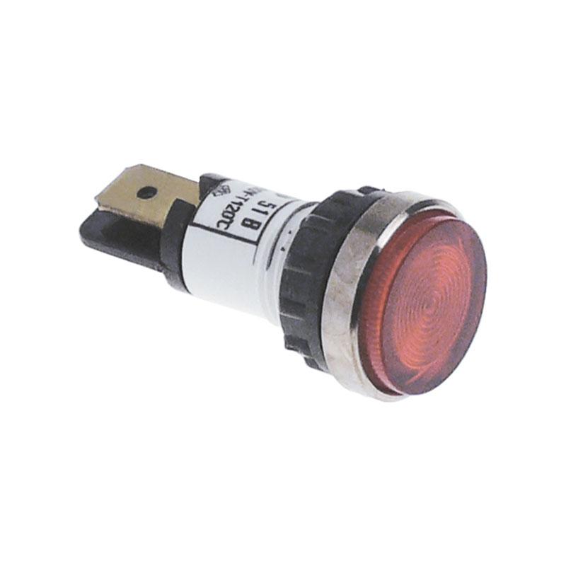 Luz piloto roja 12mm